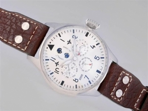 Cool IWC Big Pilot Perpetual Calender White Dial With AR Coating-New Version AAA Watches [M5I9]