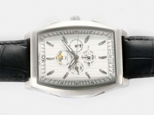 Cool IWC Da Vinci Perpetual Calendar Automatic with White Dial AAA Watches [N5A4]