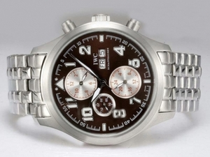 Cool IWC Saint Exupery Chronograph Automatic with Brown Dial AAA Watches [G9C9]