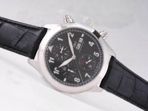 Cool IWC Saint Exupery Chronograph Automatic with Black Dial AAA Watches [L6N8]