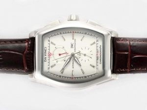 Fancy IWC Da Vinci Chronograph Automatic with White Dial AAA Watches [N2M9]