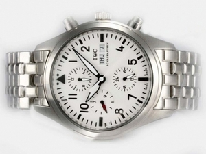 Fancy IWC Pilot Chrono 3717 Automatisk Med Hvid Ring op-Samme Ch
