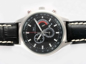 Fancy IWC Saint Exupery Working Chronograph with Black Dial AAA Watches [A4U1]