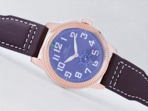 Gorgeous IWC Saint Exupery Automatic Rose Gold Case with Blue Dial-AR Coating AAA Watches [U2J1]