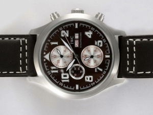 Gorgeous IWC Saint Exupery Chronograph Automatic with Brown Dial AAA Watches [E9T2]