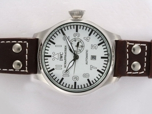 Great IWC Big Pilot Automatic with White Dial AAA Watches [G7N7]