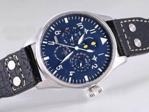 Great IWC Big Pilot Perpetual Calender Blue Dial With AR Coating-New Version AAA Watches [C6Q7]