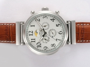 Great IWC Da Vinci Perpetual Calendar Automatic with White Dial AAA Watches [F2F9]