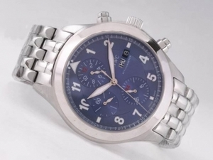 Great IWC Saint Exupery Chronograph Automatic with Blue Dial-Number AAA Watches [D1G6]