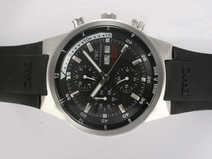 Modern IWC Aquatimer Chrono Cousteau Divers Chronograph Automatic Black AAA Watches [W5Q6]