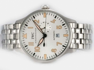 Modern IWC Big Pilot 7 Days Automatic with White Dial-New Version AAA Watches [O6W1]