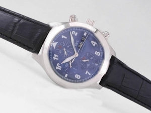 Modern IWC Saint Exupery Chronograph Automatic with Blue Dial AAA Watches [S5M3]