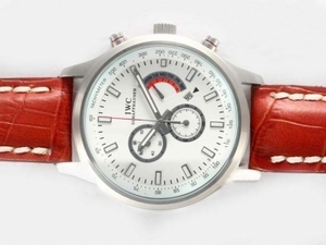 Modern IWC Saint Exupery Working Chronograph with White Dial AAA Watches [D7R7]