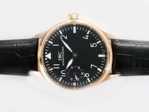 Perfect IWC Big Pilot Manual Winding Gold Case with Black Dial AAA Watches [R4P1]