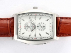 Perfect IWC Da Vinci Working Chronograph with White Dial AAA Watches [T6A9]