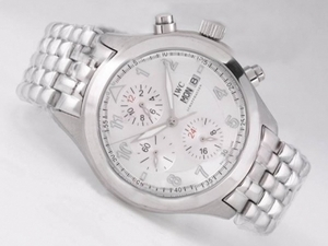 Perfect IWC Saint Exupery Chronograph Automatic with White Dial-Number AAA Watches [N4S4]