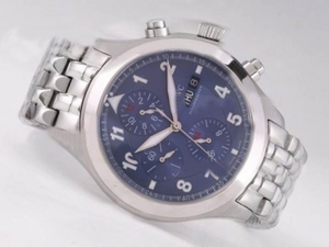 Perfect IWC Saint Exupery Chronograph Automatic with Blue Dial-Number AAA Watches [C6F2]
