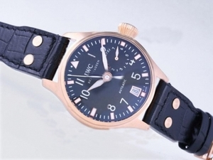 Popular IWC Big Pilot 7 Days Power Reserve WIth Rose Gold Case-TOURNEAU AAA Watches [L2S5]