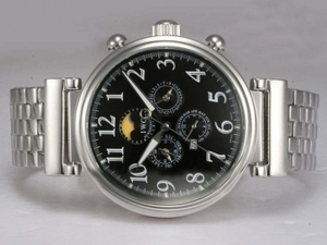 Popular IWC Da Vinci Perpetual Calendar Automatic with Black Dial AAA Watches [B7V3]