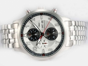 Popular IWC Saint Exupery Chronograph Automatic with White Dial AAA Watches [P9N9]