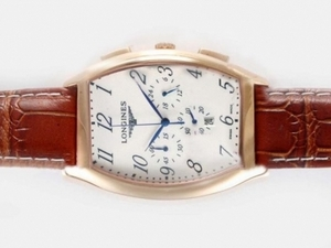 Cool Longines Evidenza Working Chronograph Rose Gold sag med hvi