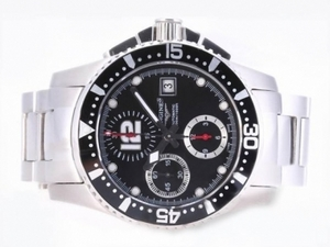 Cool Longines Hydroconquest V Chronograph Asia Valjoux 7750 Bevegelse AAA Klokker [R5E3]