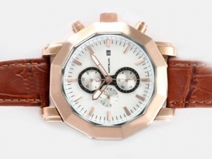 Cool Montblanc Sport Chronograph Automatic Two Tone Case with White Dial AAA Watches [C1U1]