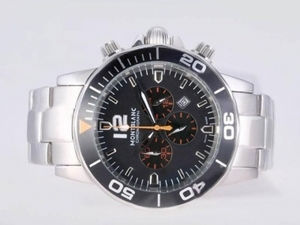 Fancy Montblanc Sport Working Chronograph with Black Dial-New Version AAA Watches [I5P2]