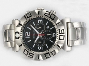 Fancy Montblanc Sport Working Chronograph with Black Dial AAA Watches [X8O7]