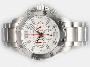 Gorgeous Montblanc Sport Working Chronograph with White Dial AAA Watches [W6E7]