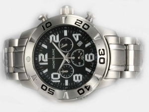 Gorgeous Montblanc Sport Working Chronograph with Black Dial AAA Watches [G4W1]