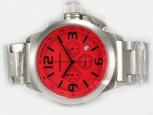 Gorgeous Montblanc Star Working Chronograph with Red Dial AAA Watches [E7K2]
