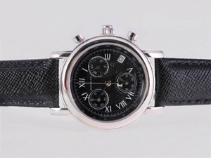 Great Montblanc Star Working Chronograph with Black Dial and Strapl AAA Watches [U7B2]