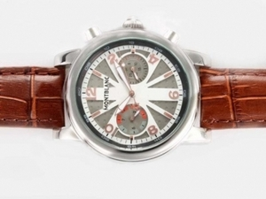 Modern Montblanc Classic Chronograph Automatic with Gray Dial AAA Watches [Q9F9]