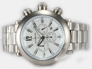 Modern Montblanc Sport Working Chronograph with White Dial AAA Watches [R4R1]