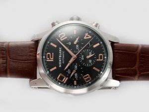 Perfect Montblanc Time Walker Chronograph Automatic Rose Gold Marking AAA Watches [P6J9]