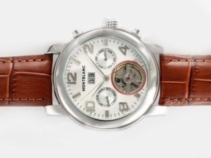 Perfect Montblanc Tourbillon Chronograph Automatic with White Dial AAA Watches [F7A1]