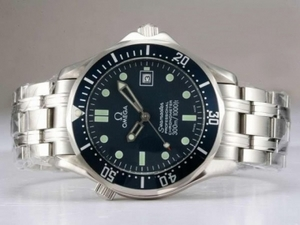 Cool Omega Seamaster Automatic with Blue Dial and Bezel AAA Watches [M2X1]