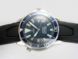 Cool Omega Seamaster GMT Working Automatic with Blue Dial-Rubber Strap AAA Watches [P4B3]