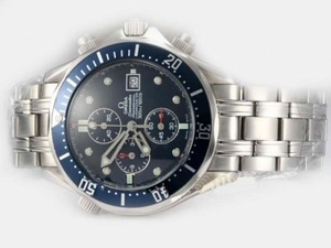 Cool Omega Seamaster Professional Working Chronograph with Blue Dial AAA Watches [P6G6]