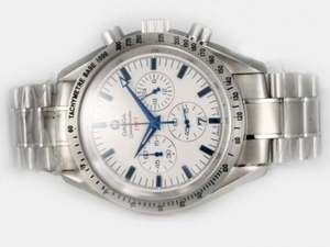 Cool Omega Speedmaster 1957 Working Chronograph with White Dial AAA Watches [I5F3]