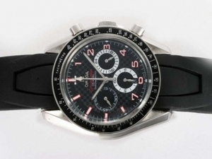 Cool Omega Speedmaster Working Chronograph with Black Dial AAA Watches [W6T4]