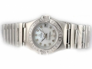 Fancy Omega Constellation Diamond Bezel and Marking with MOP Dial-Lady Size AAA Watches [G7H9]