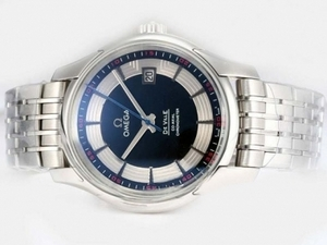 Fancy Omega Hour Vision See Thru Case Blue Dial-Updated Model 21600bp AAA Watches [P5C3]