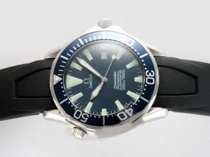 Fancy Omega Seamaster Automatic with Blue Dial-Rubber Strap AAA Watches [D5H8]