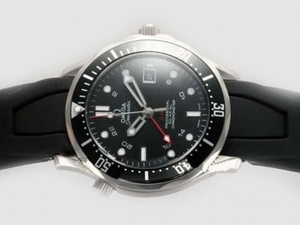 Fancy Omega Seamaster GMT Working Automatic with Black Dial AAA Watches [A2G3]