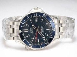 Fancy Omega Seamaster Working GMT Automatic with Blue Dial AAA Watches [R4W3]