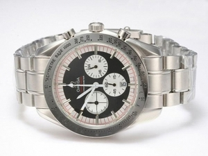 Fancy Omega Speedmaster Working Chronograph with Black Dial AAA Watches [C4I8]