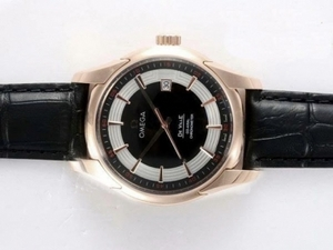 Gorgeous Omega Hour Vision See Thru Case Automatic Rose Gold Case AAA Watches [G2N9]