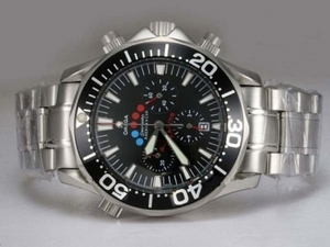 Gorgeous Omega Seamaster America's Cup Working Chronograph with Black Dial AAA Watches [N7H5]